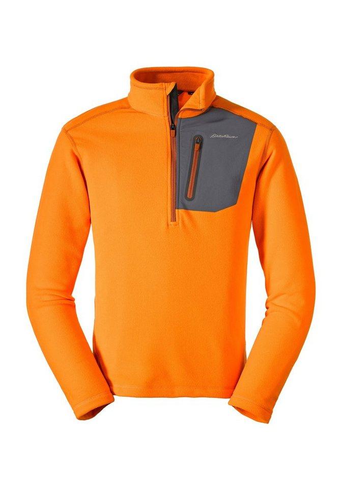 Herren Eddie Bauer First Ascent Fleecepullover Cloud Layer Pro Fleeceshirt mit 1 4-Reissverschluss orange | 04057682026275