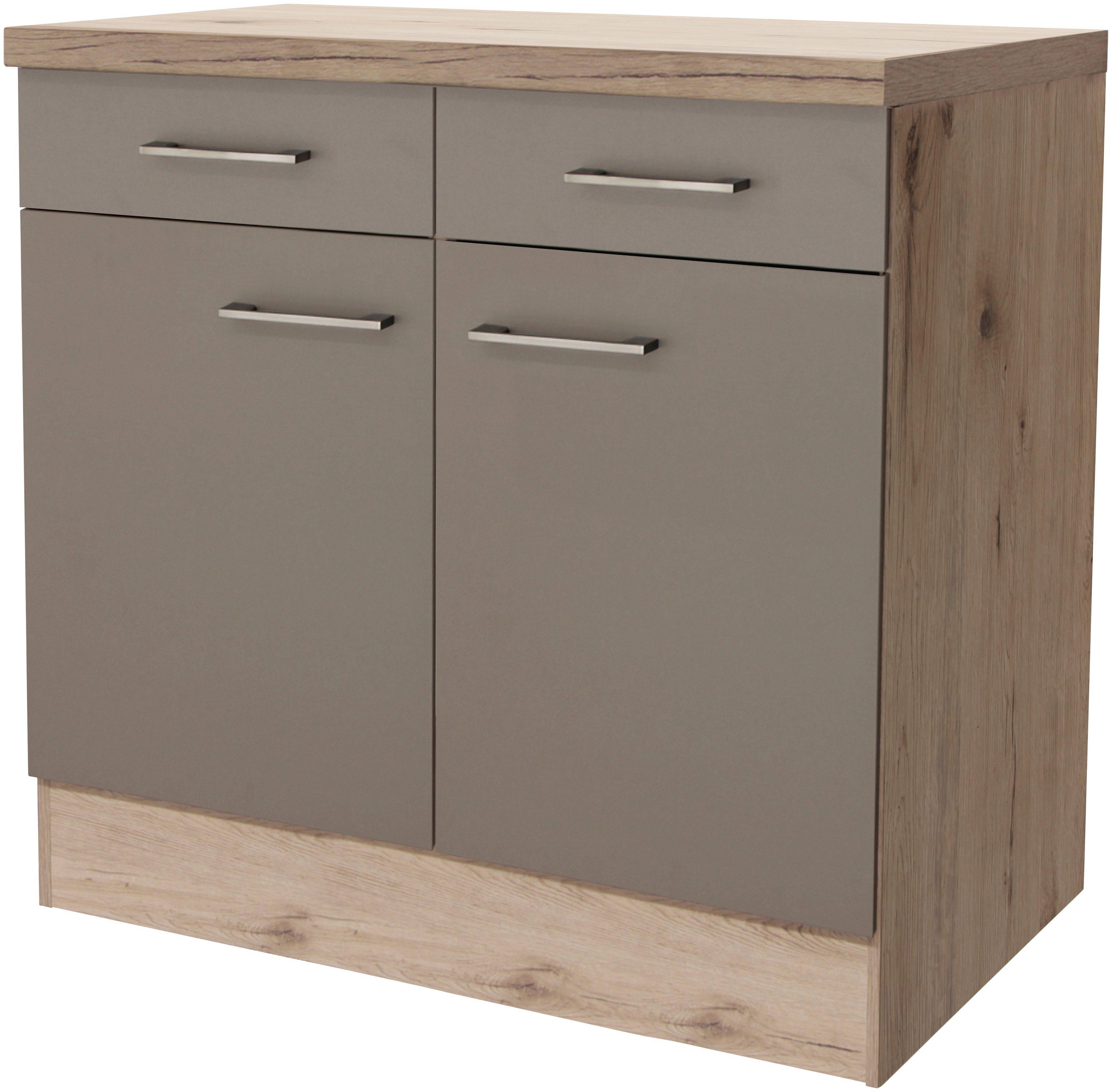 Küchenunterschrank »Riva, Breite 80 cm«