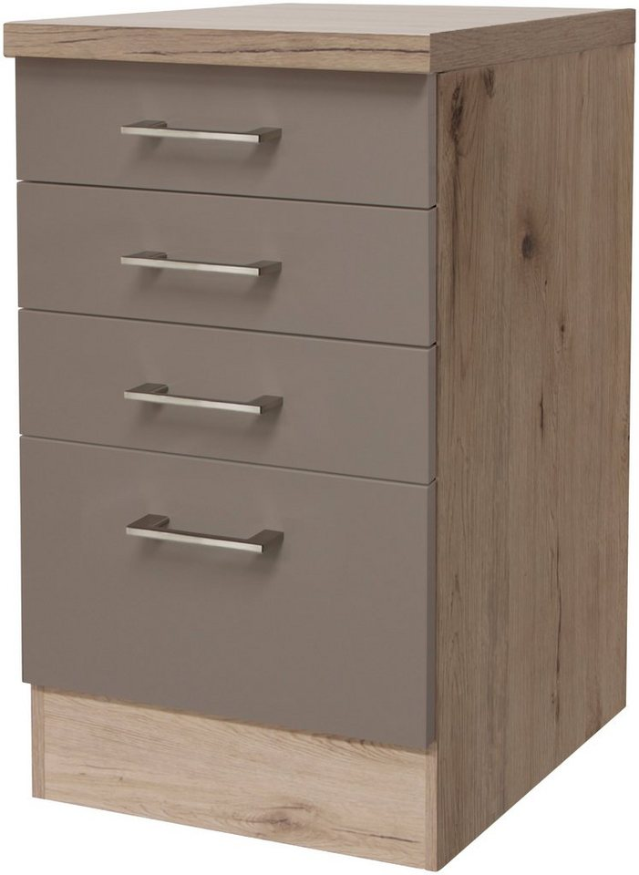Küchenunterschrank »Riva, Breite 50 cm« in trüffelfarben