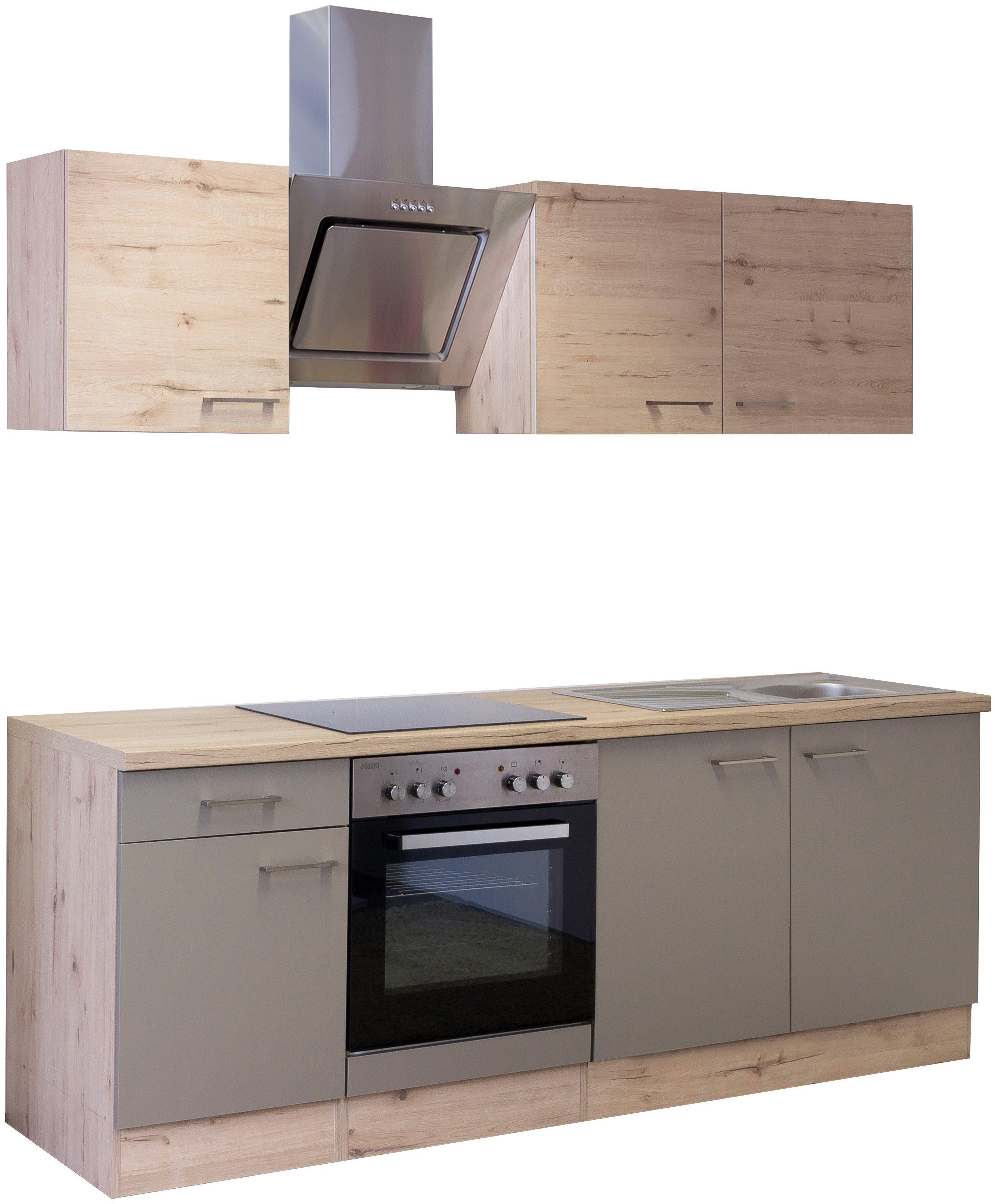 Küchenzeile mit E-Geräten »Riva 210 cm«