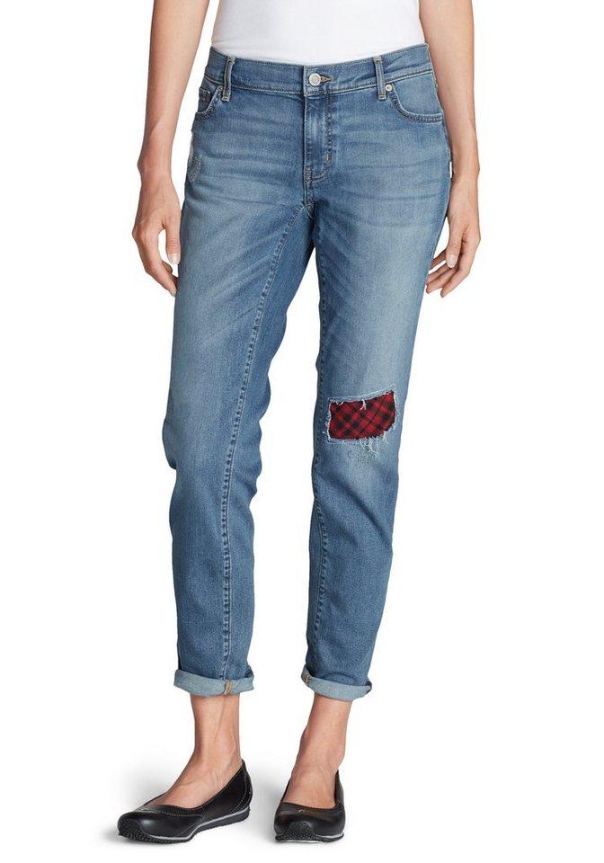 Eddie Bauer Boyfriend Jeans mit Flanellpatch in Summit