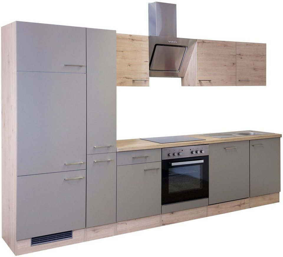 Küchenzeile mit E-Geräten »Riva 310 cm« in trüffelfarben