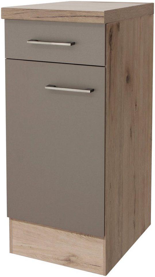 Küchenunterschrank »Riva, Breite 30 cm« in trüffelfarben