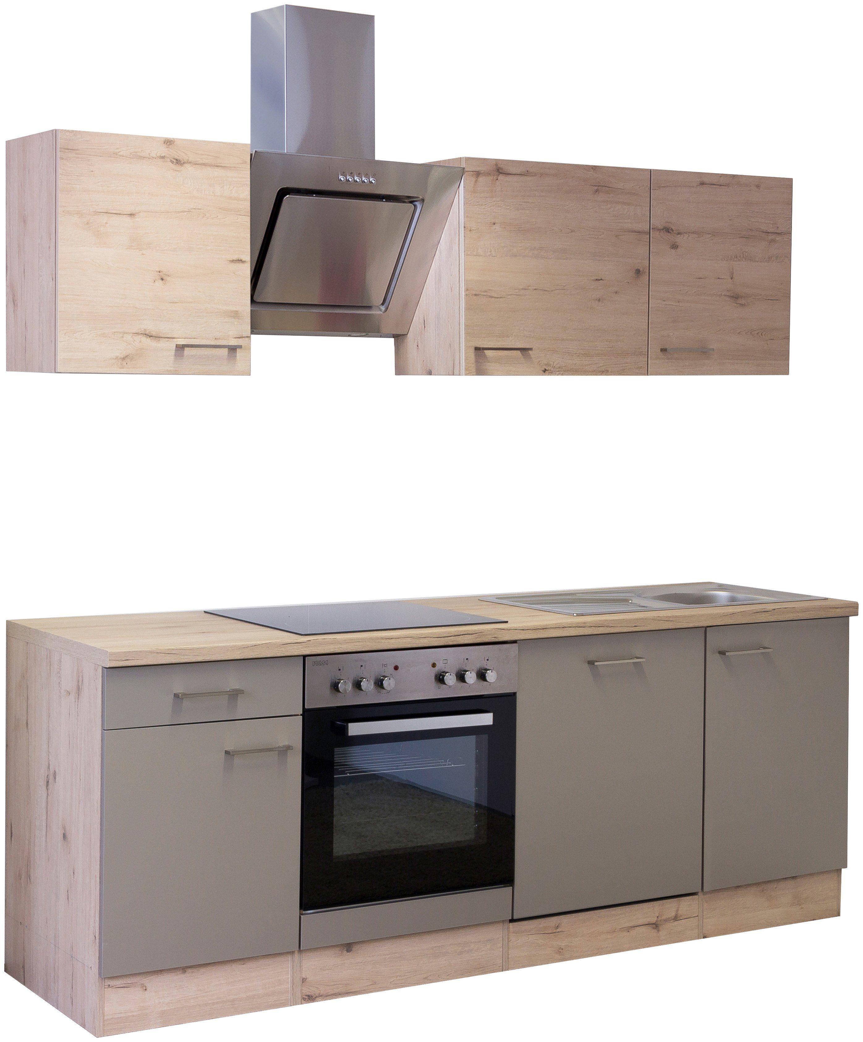 Küchenzeile mit E-Geräten »Riva 220 cm«