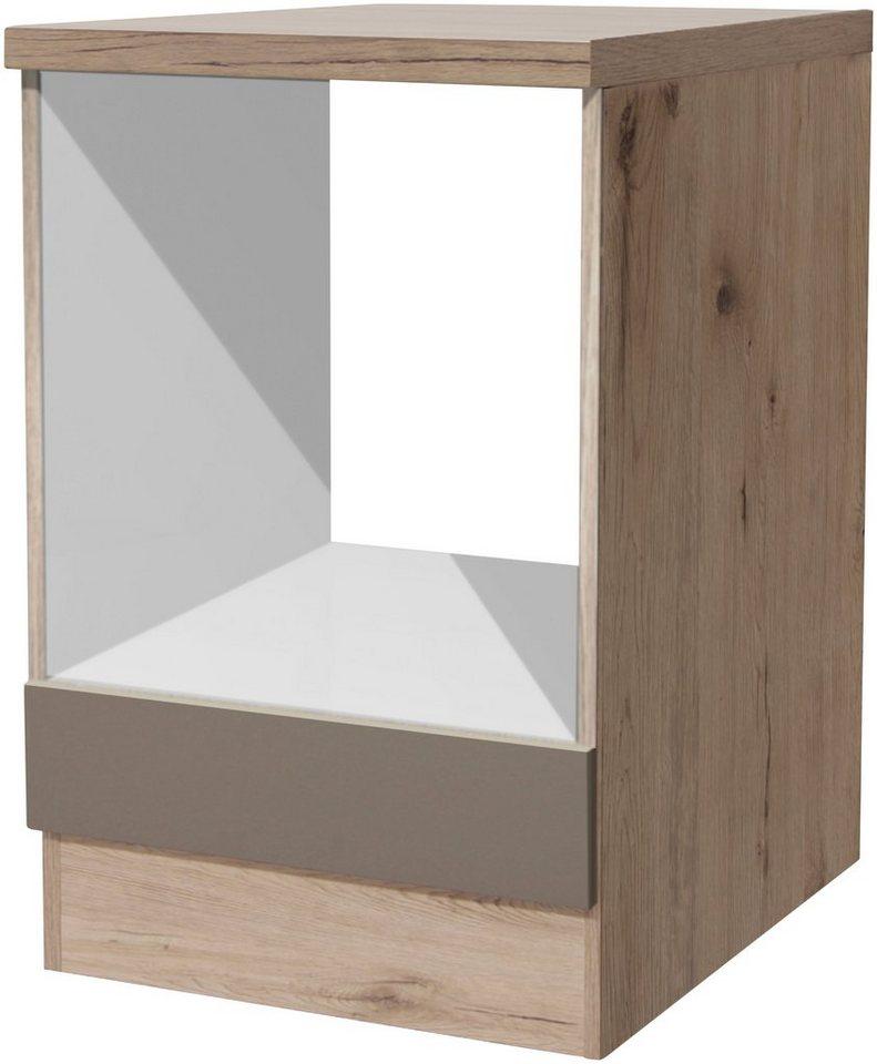 Herdumbauschrank »Riva, Breite 60 cm « in trüffelfarben
