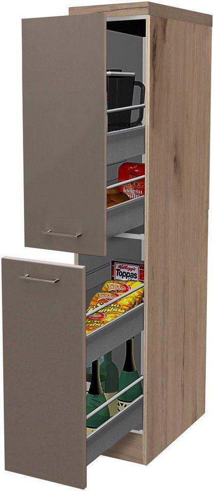 Apothekerschrank »Riva, Höhe 162 cm« | Küche und Esszimmer > Küchenschränke > Apothekerschränke | Braun | Holzwerkstoff | Flex-Well