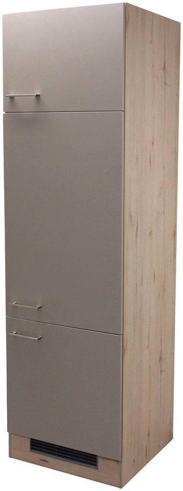 Kühlumbauschrank »Riva, Höhe 200 cm« in trüffelfarben