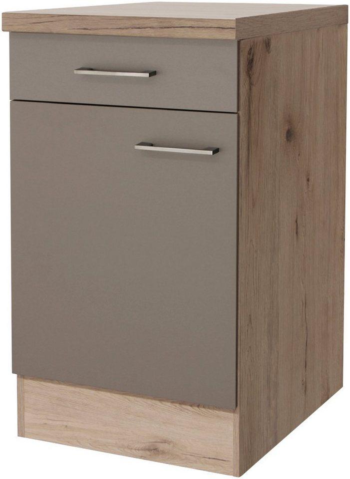 flex well k chenunterschrank riva breite 50 cm mit 38. Black Bedroom Furniture Sets. Home Design Ideas