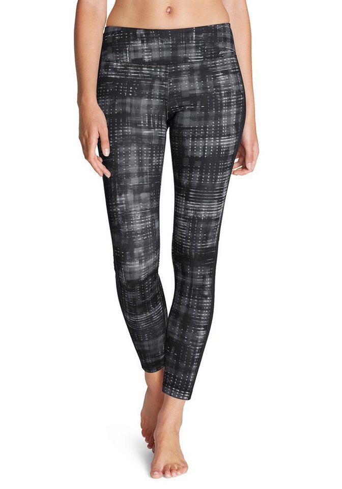 Eddie Bauer Crossover Leggings in Schwarz gemustert