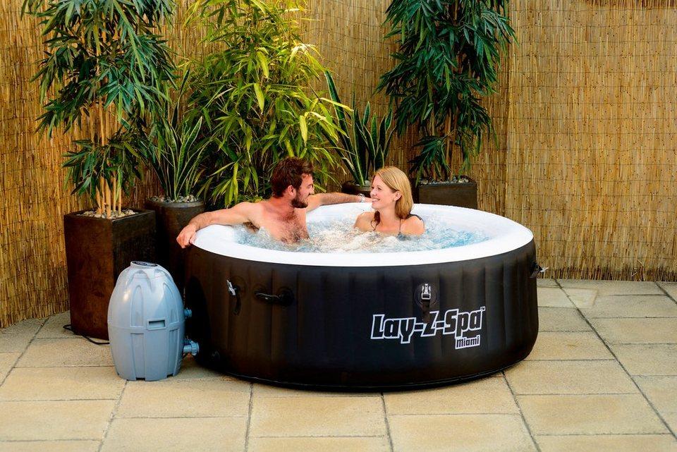 Bestway Set: Whirlpool »Lay-Z-Spa Miami«, ØxHöhe: 180x66 cm in schwarz