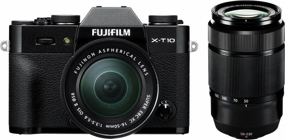 FUJIFILM X-T10 XC16-50 System Kamera, XC16-50mm F3.5-5.6 OIS II Zoom, 16,3 Megapixel in schwarz