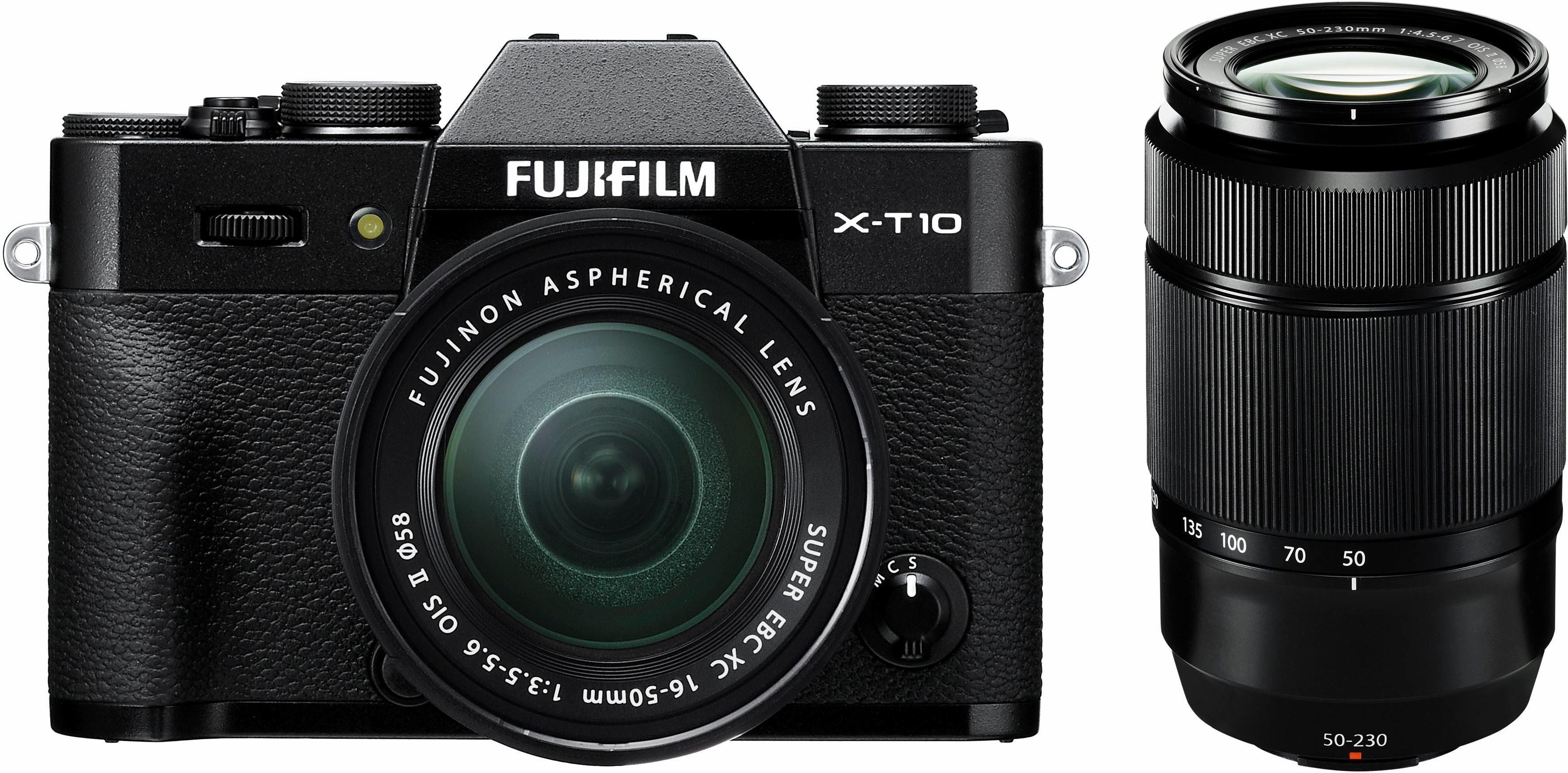 FUJIFILM X-T10 System Kamera, Inkl. 16-50mm- und 50-230mm-Objektiv, WLAN, Full HD Video, 16,3 MP