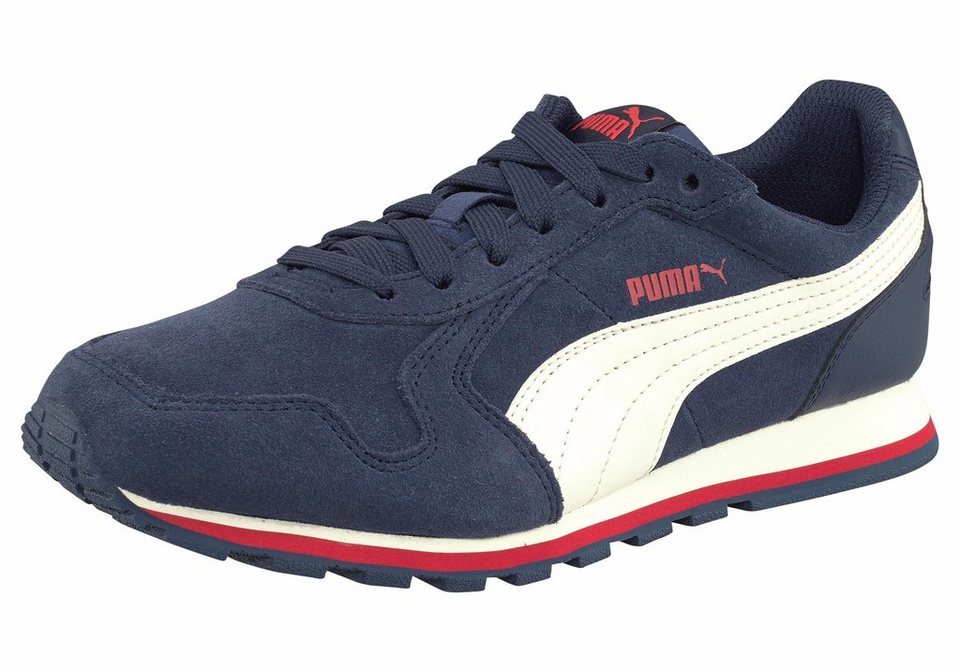 PUMA »ST Runner SD Junior« Sneaker in blau-weiß