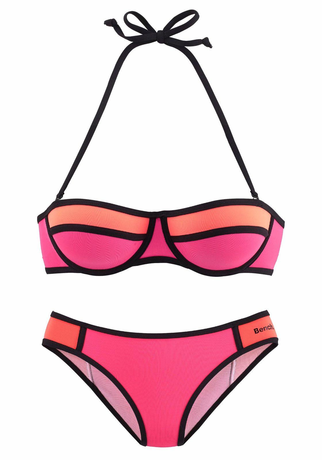 Bench. Balconette-Bikini mit Kontrastpaspel