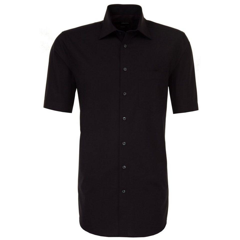 Seidensticker Businesshemd »modern« in schwarz-dunkellila
