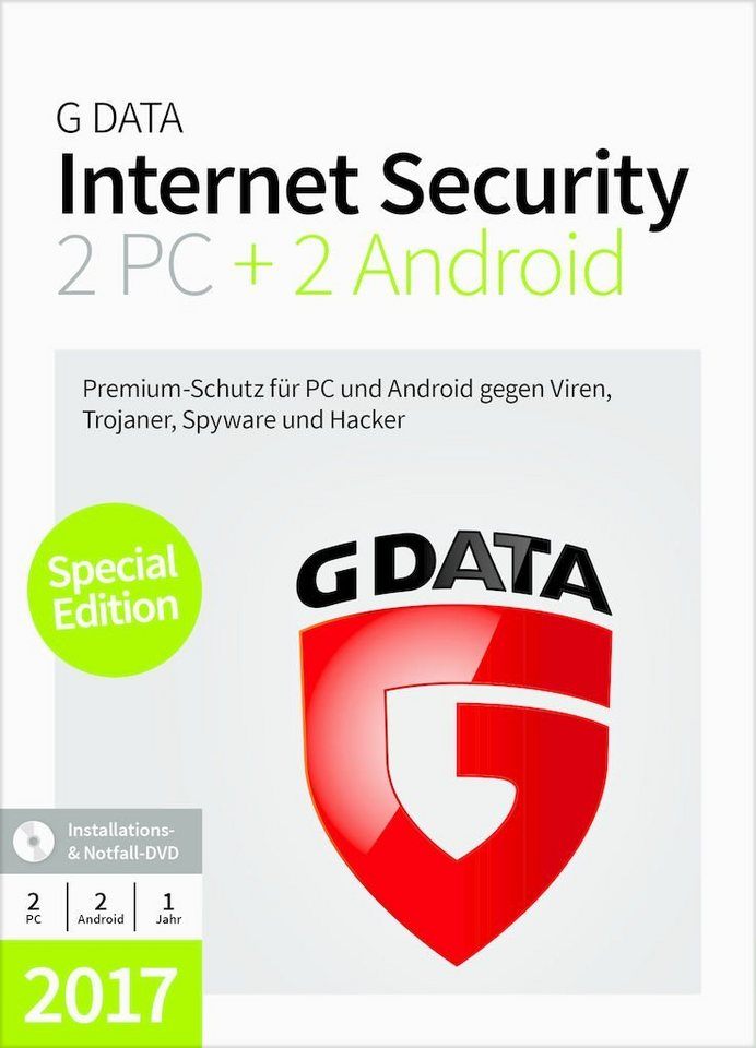 GData Software »GData Internet Security 2PC + 2 Android 2017«