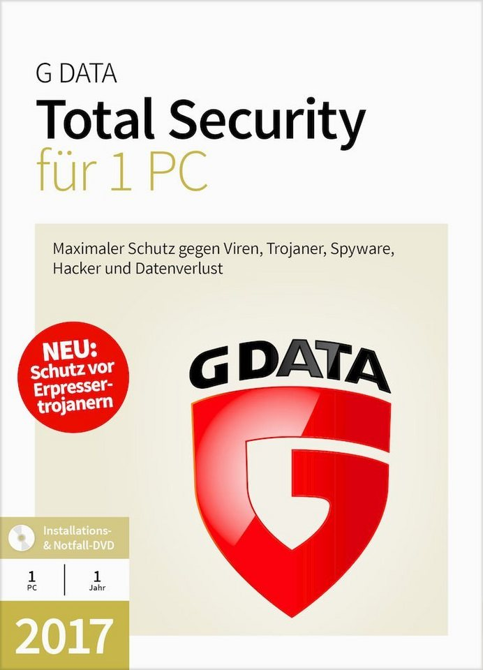 GData Software »GData Total Security 2017 1 PC«