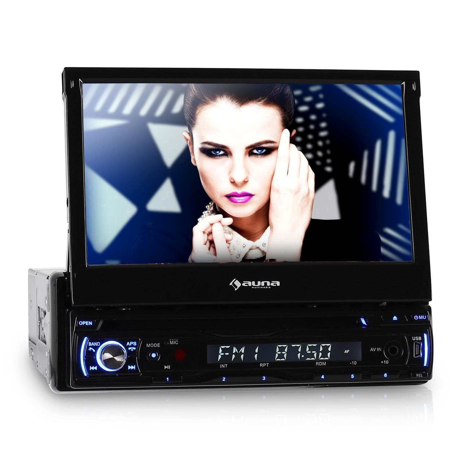 AUNA Autoradio 18cm Moniceiver Bluetooth DVD USB SD »DTA 90BT «