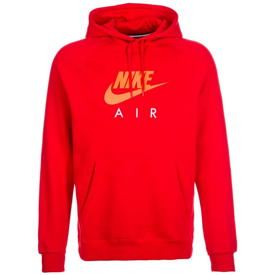 Nike Sportswear Air Fleece Kapuzenpullover Herren in rot / orange