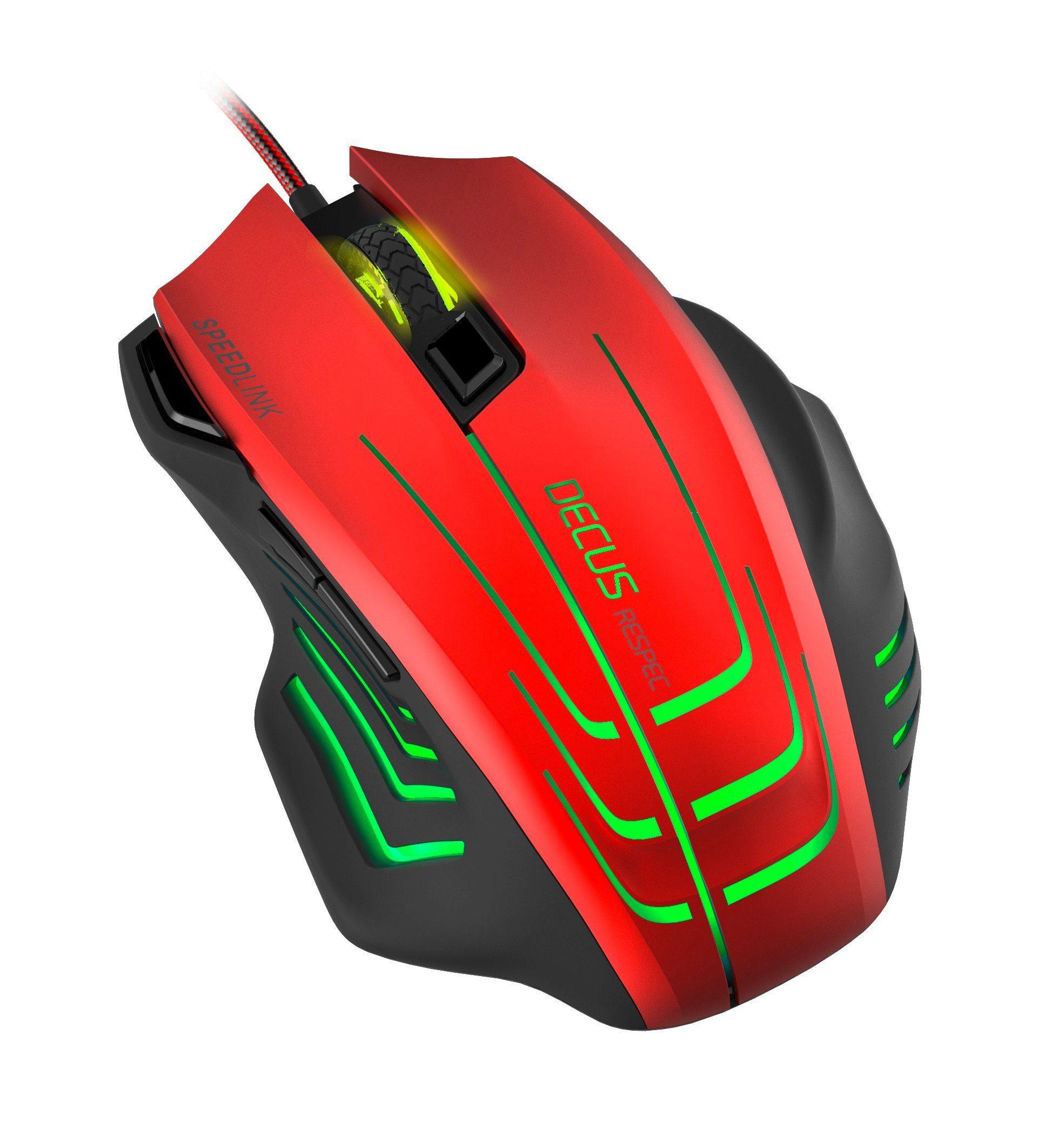 SPEEDLINK Gaming Maus »DECUS RESPEC Gaming Mouse, schwarz-rot«
