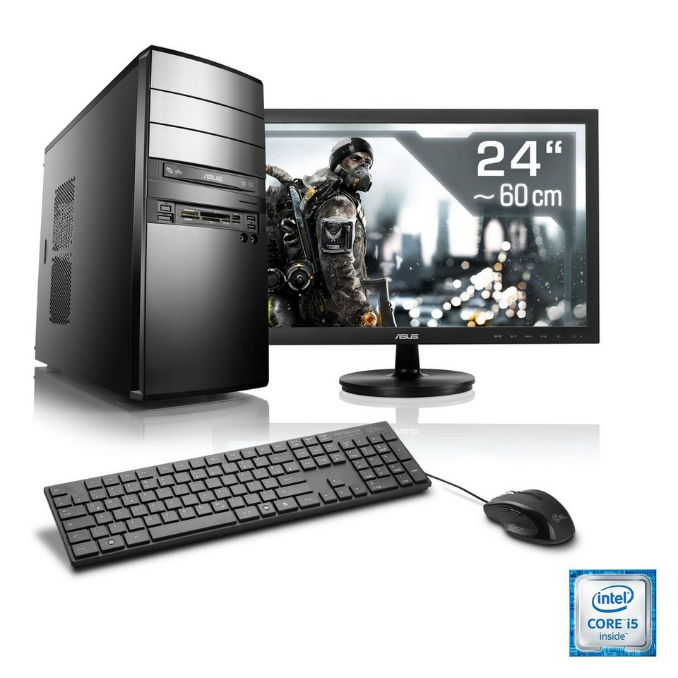 "CSL Gaming PC Set | Core i5-6500 | GTX 1060 | 8GB DDR4 RAM | 24"" TFT »Speed T5922 Windows 10 Home«"