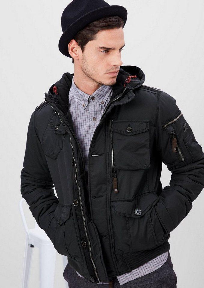 s.Oliver RED LABEL Sportive Winterjacke mit Kapuze in dark grey