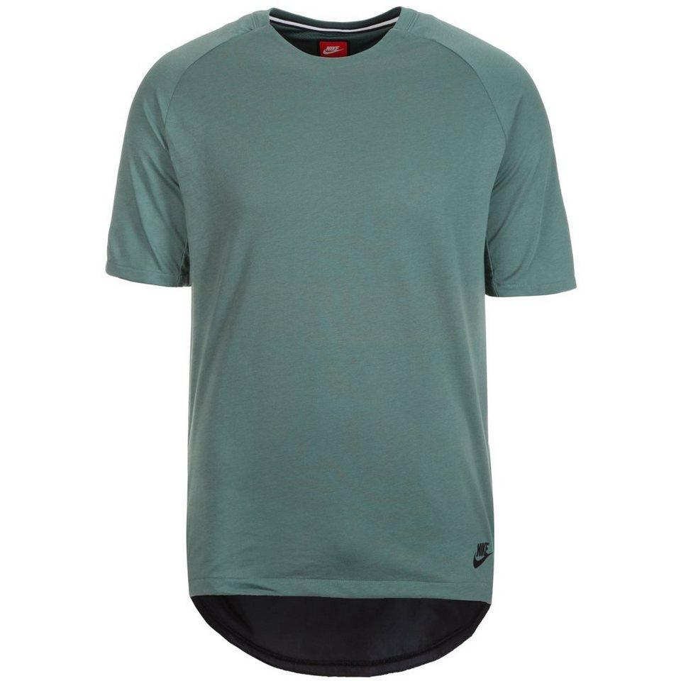 Nike Sportswear Bonded T-Shirt Herren in grüngrau / schwarz