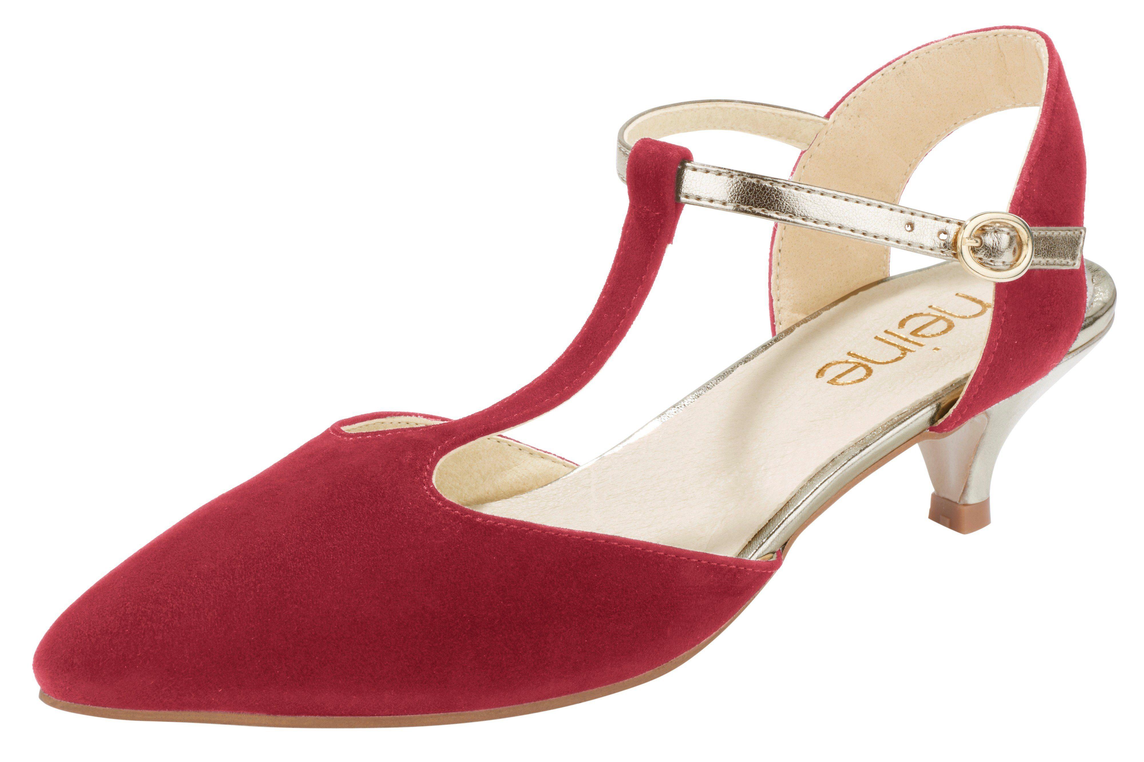 Heine Pumps online kaufen  rot#ft5_slash#goldfarben