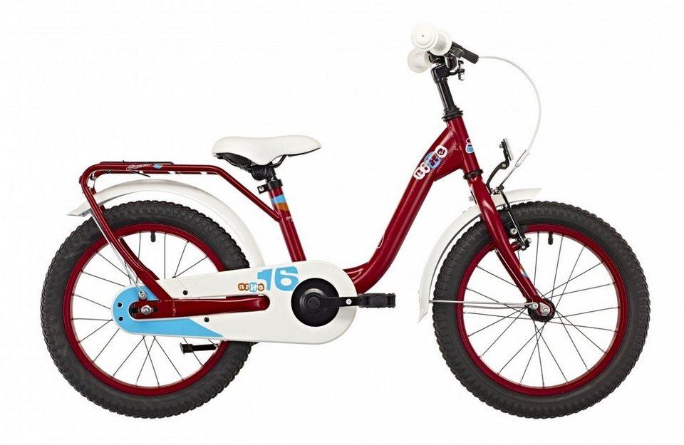 S'COOL Kinderrad »niXe 16 steel« in rot