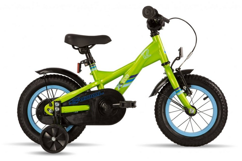 S'COOL Kinderrad »XXlite 12 steel« in grün