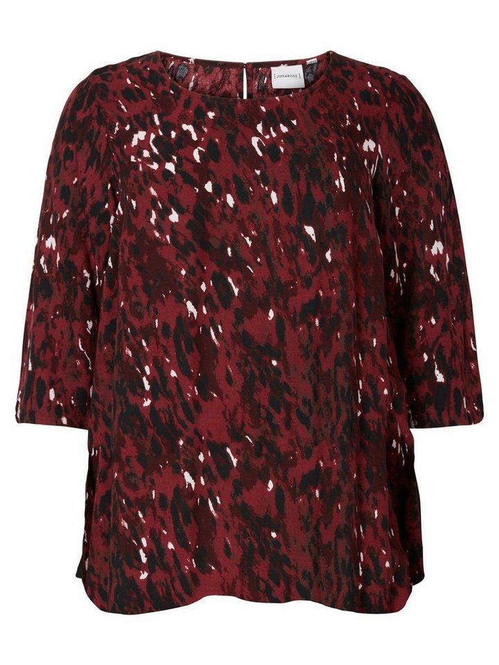 JUNAROSE 2/4-ärmelige Bluse in Maroon
