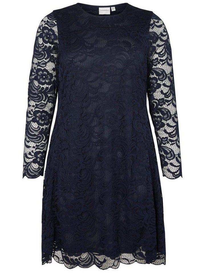 JUNAROSE Langärmeliges Kleid in Navy Blazer