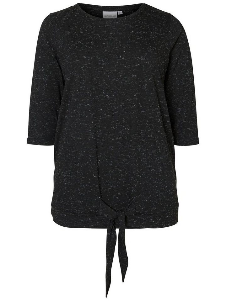 JUNAROSE 3/4-ärmelige Bluse in Black