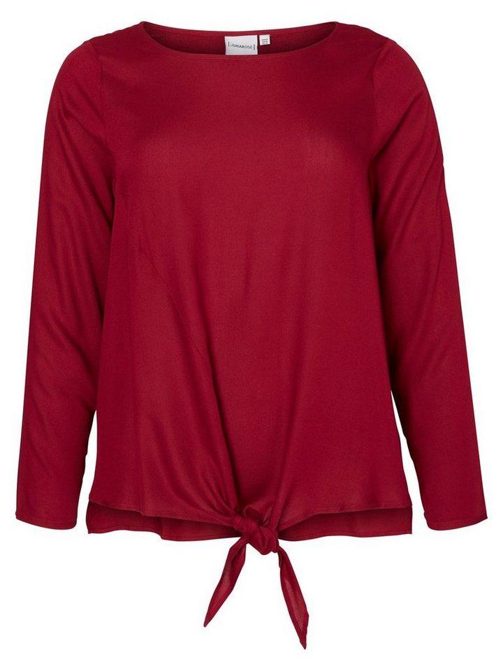 JUNAROSE Langärmelige Bluse in Beet Red