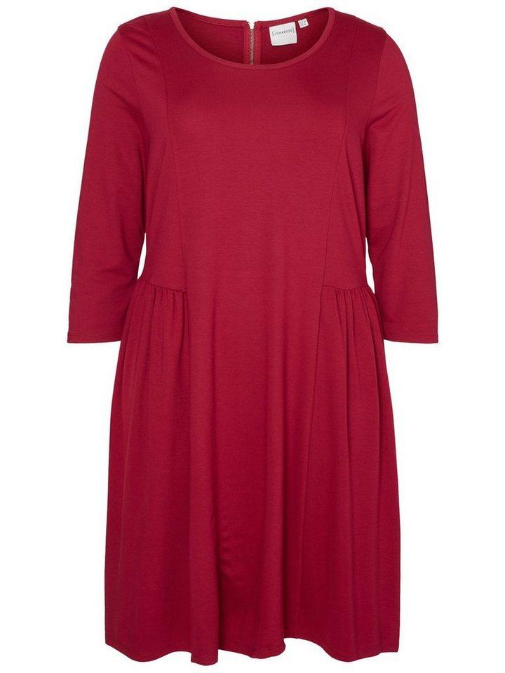 JUNAROSE 3/4-ärmeliges Kleid in Beet Red