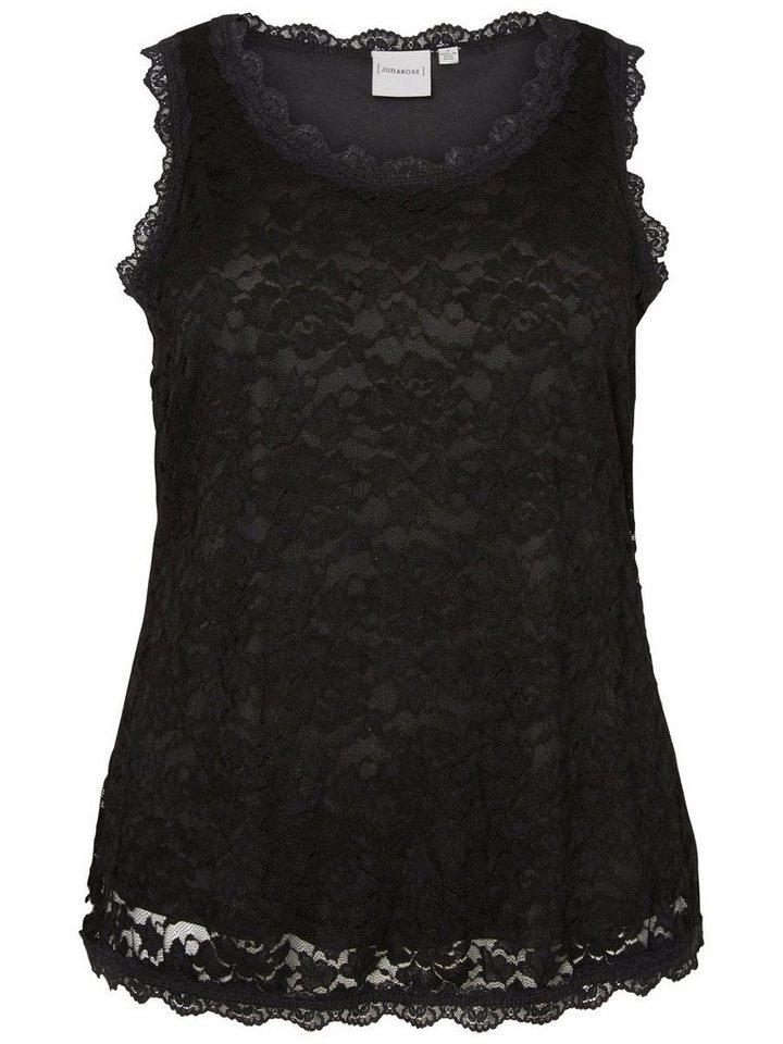 JUNAROSE Spitzen- Bluse in Black