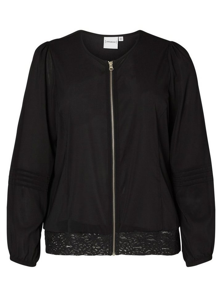 JUNAROSE Bomber Jacke in Black