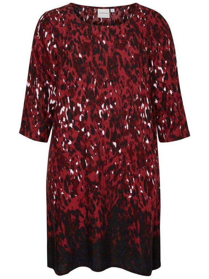 JUNAROSE 3/4-ärmeliges Kleid in Maroon