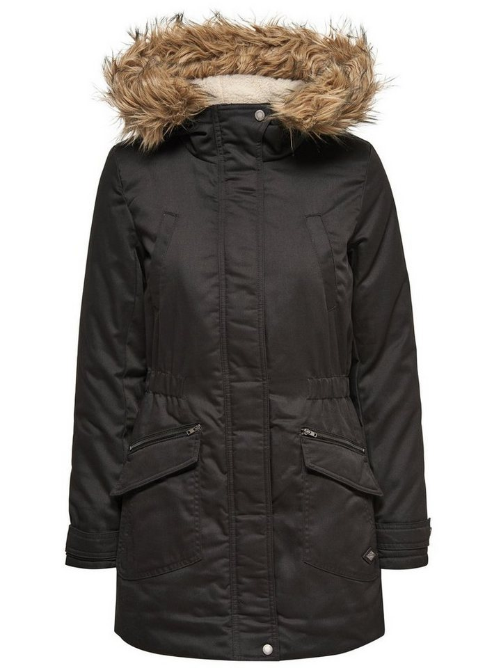 Only Gefütterter Parka in Black