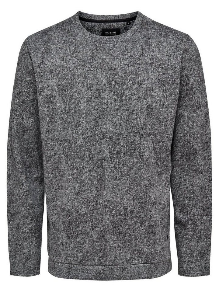 ONLY & SONS Einfarbiges Sweatshirt in Medium Grey Melange