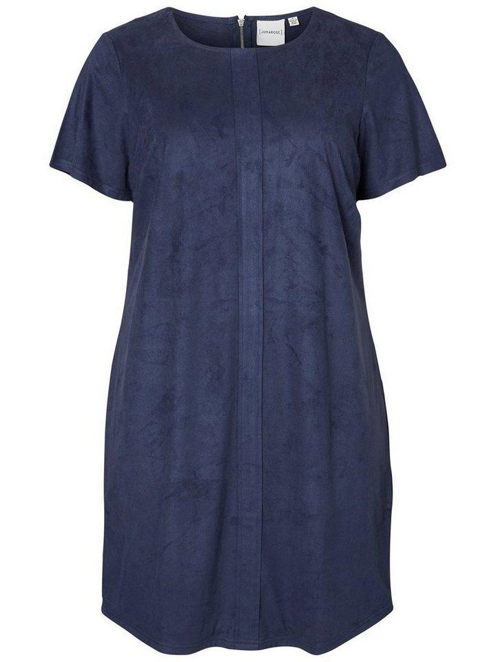 JUNAROSE Kurzärmeliges Kleid in Black Iris