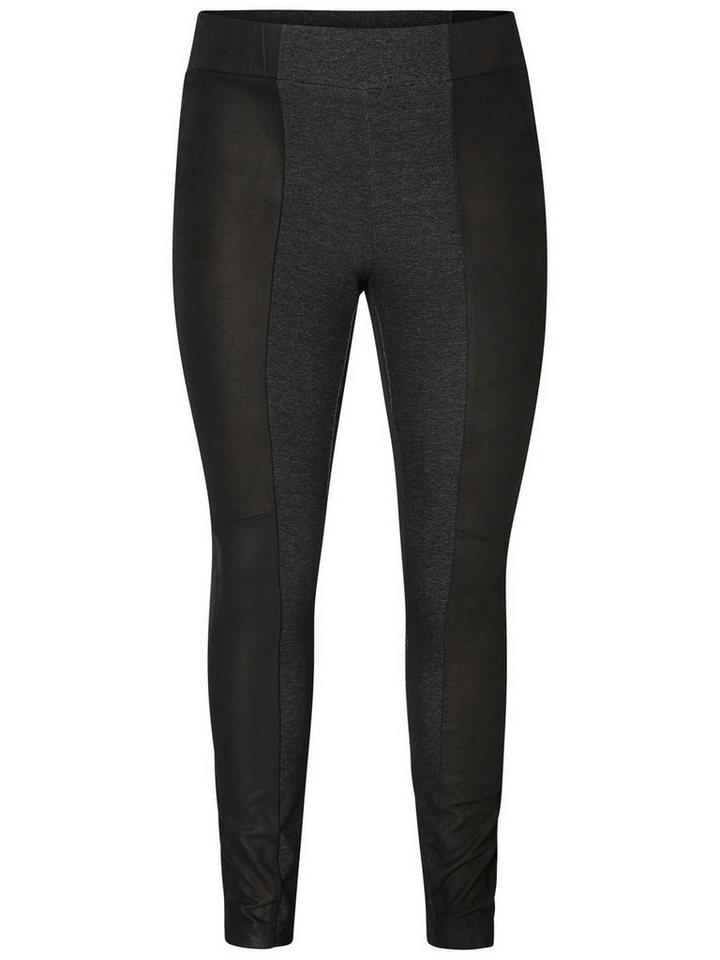JUNAROSE Leder- Leggings in Black