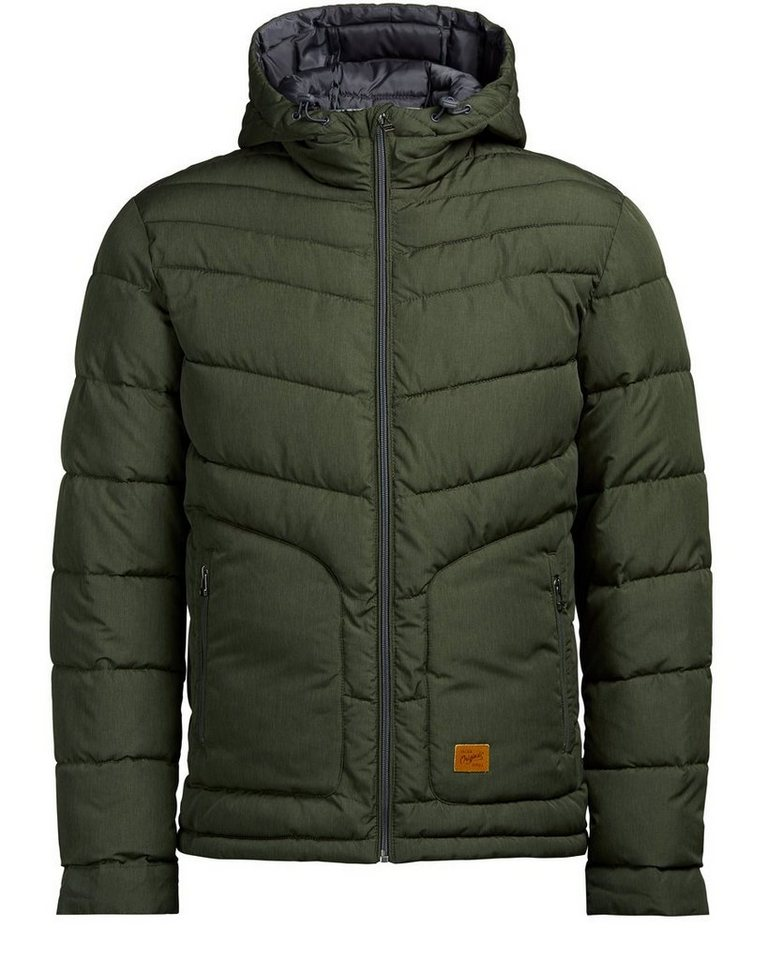 Jack & Jones Kapuzen Wattierte Jacke in Rosin