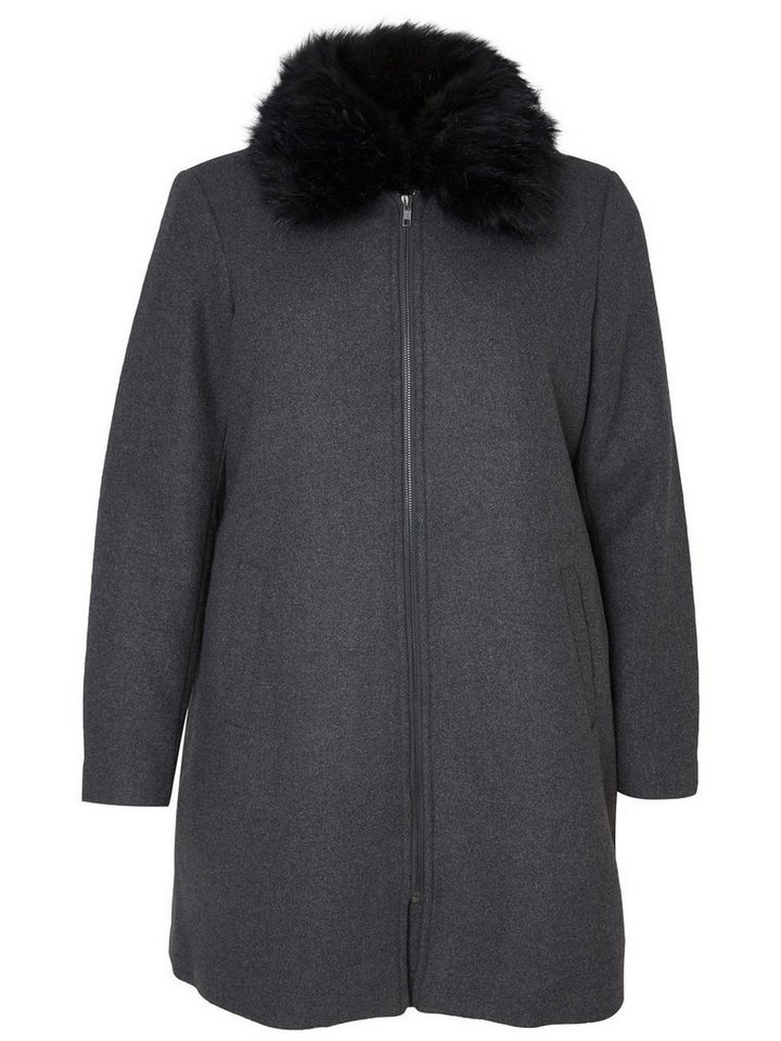 JUNAROSE Langärmelige Jacke in Dark Grey Melange