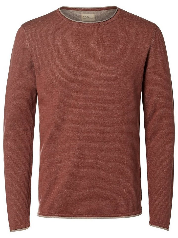 Selected Crew Neck- Strickpullover in Apple Butter