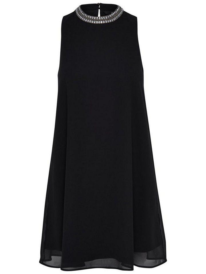 Only A-förmiges Kleid ohne Ärmel in Black