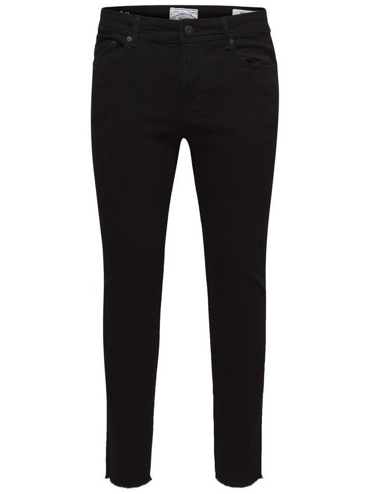 ONLY & SONS Warp raw edge black Skinny Fit Jeans in Black Denim