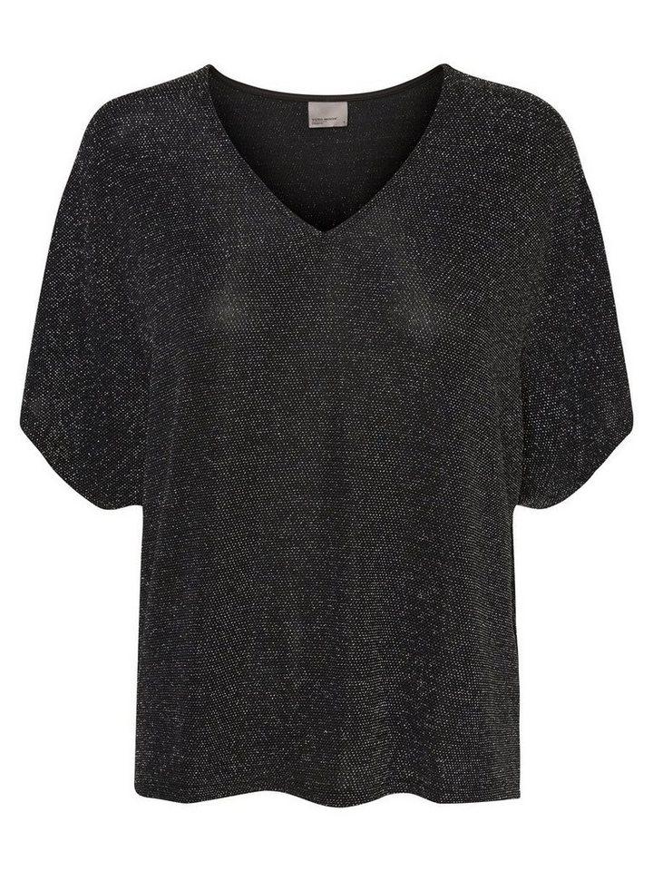 Vero Moda Feminine Bluse mit 2/4 Ärmeln in Black