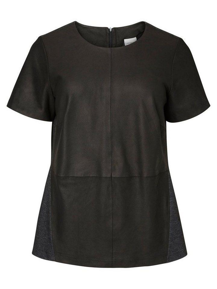 JUNAROSE Leder- Bluse in Black