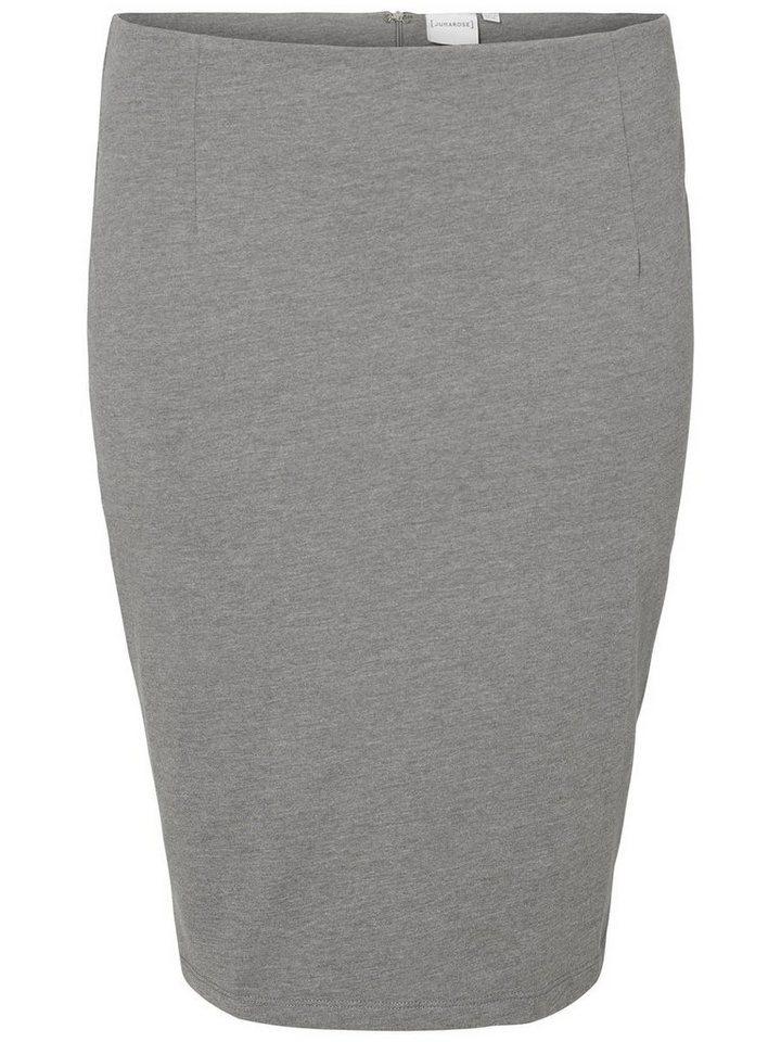 JUNAROSE Bleistift- Rock in Medium Grey Melange
